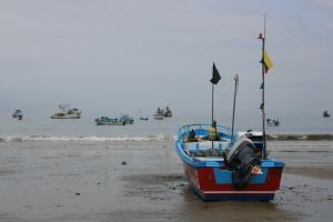 Stranda i Puerto Lopez