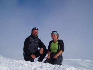 Pappa og jeg på toppen av Karitind