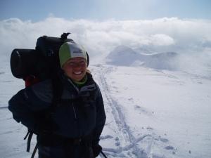 På toppen av Karitind, med utsikt mot Torsnosi