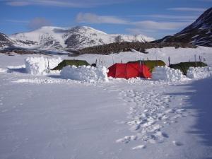 Teltleir ved Bergedalstjønne