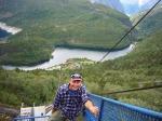 Oppover Mågelibanen med Skjeggedal i bunnen og en snill hytteeier i førersetet