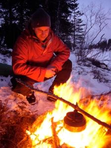 ...og kaffekok før siste etappe til Kvitfjellhytta