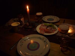 Kveldens meny - rakfisk med tilbehør