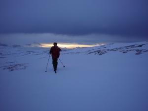 Vindfullt i fjellet - i Skarvanmassivet