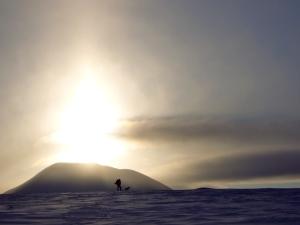 Storsølnkletten i solnedgang, sett fra øst