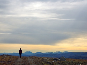 Et eventyrrike... Med Storsølnkletten rett til høyre for Mari og Rondane helt til høyre i bildet