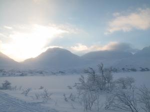 Nydelig landskap - men kaldt. Ca 20 minusgrader.