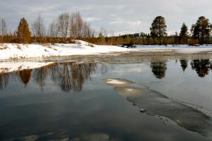 Her møtte vi isen - nesten ute i Håsjøen