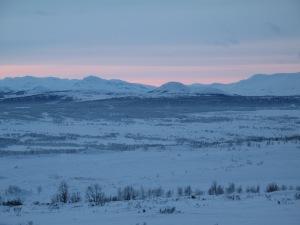 Utsikten fra Svarttjønnholet sørover mot Valdres