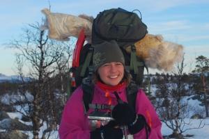 Reinskinnene Ante og Mattis er våre gode følgesvenner på vinterturer. Foto Mari Kolbjørnsrud