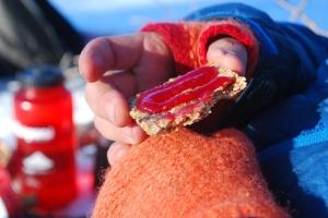 Lunsjtid. Foto Mari Kolbjørnsrud